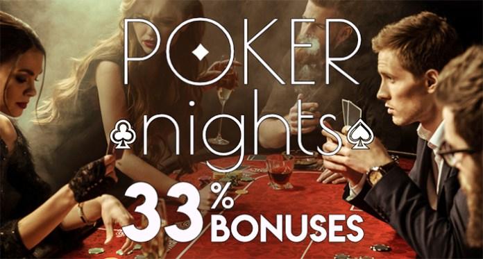 33% Poker Bonus for Deposits $25 - $600 at Vegas Crest Casino
