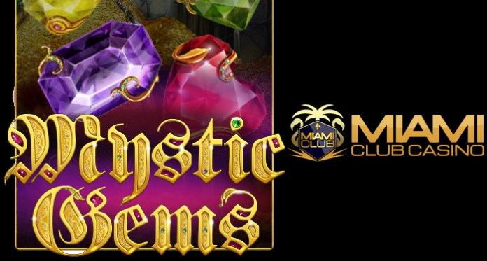 Play Mystic Gems at Miami Club Casino - Special Free Spins Offer