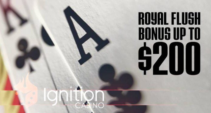 Fancy a Royal Flush Bonus Worth up to $200? Visit Ignition Casino