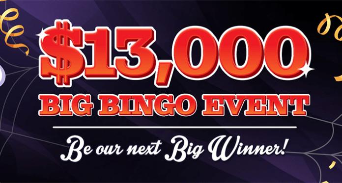 Vegas Crest Casinos $13,000 Halloween Big Bingo Event
