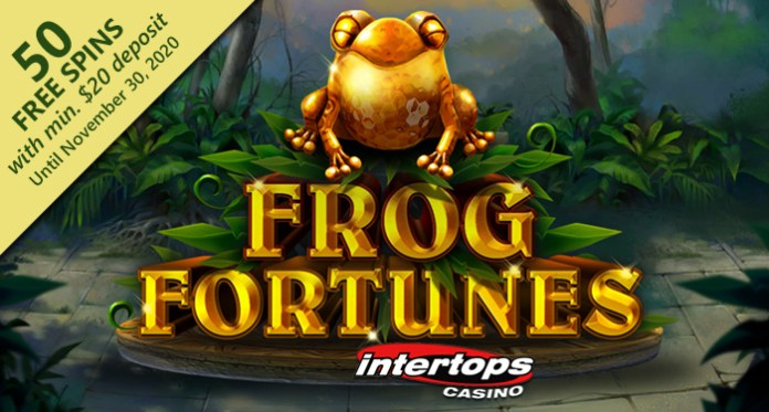 Intertops Casino Giving Free Spins on RTG's New 'Frog Fortunes' Slot