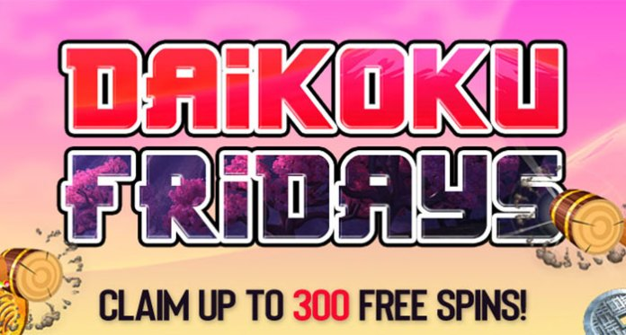 It's Daikoku Friday's at Vegas Crest Claim Up to 300 Free Spins All Month Long