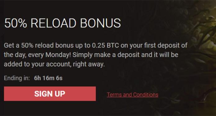 Kick Off Your Work Week with 50% Reload Bonus from Bitstarz