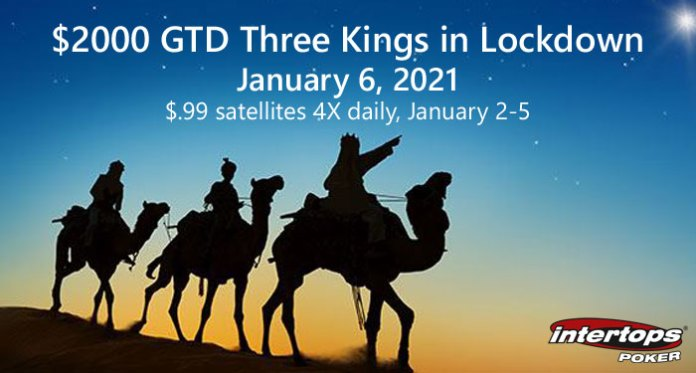 $.99 Satellites for $2000 GTD Three Kings on Lockdown Tournament
