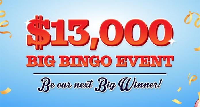 $13,000 Big Bingo Event This Week at Cyberspins Casino