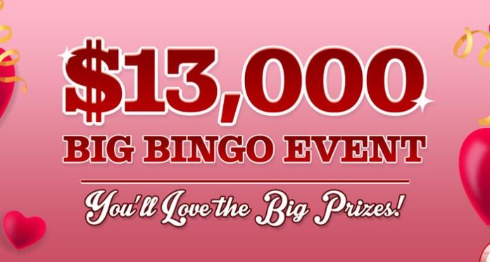 Vegas Crest Casino's $13,000 Big Bingo Event of the Month