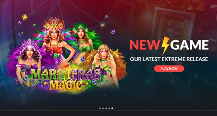 Join in on the Mardi Gras Magic Slot at Casino Extreme