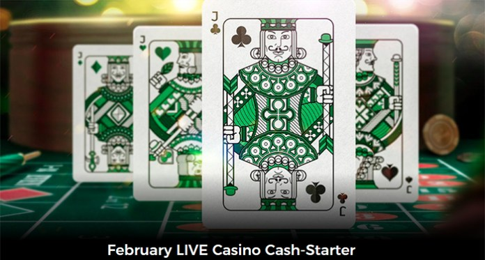 February is Live Casino Cash Starter Month at Mr Green