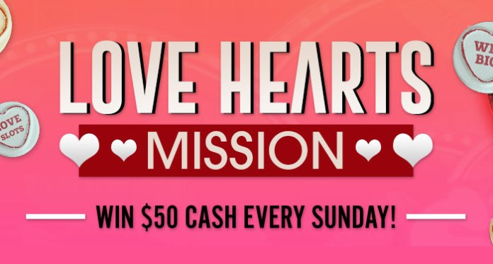 Vegas Crest Casino is Hosting its Love Hearts Mission this Month!