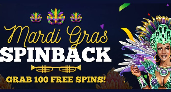 Grab 100 Free Spins with Vegas Crest Casinos Mardi Gras Spinback Promotion