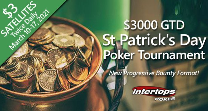 Intertops Poker's $3000 GTD St Patrick's Day Poker Tournament