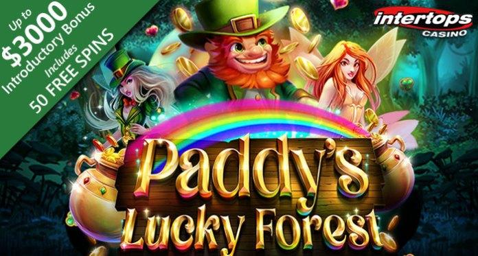 Intertops Casino New Paddy's Lucky Forest + $150,000 Crack the Safe Bonus