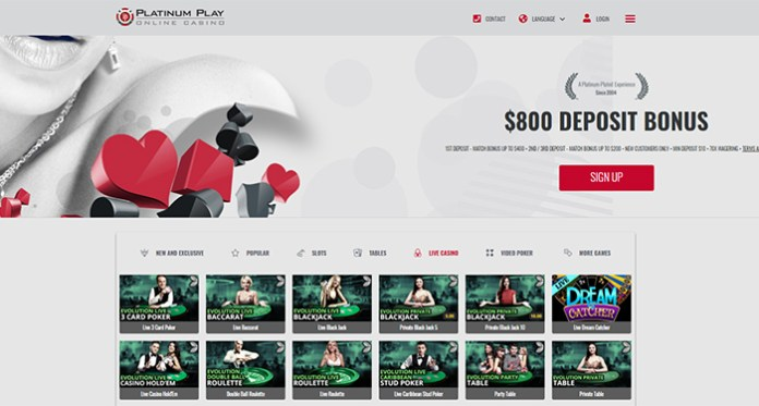 Take a Seat at Platinum Play Casinos Live Casino Game Tables