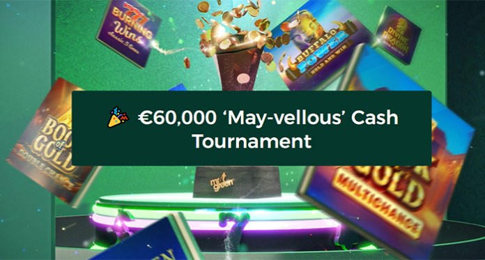 Play Mr Green's $60,000 May-vellous Cash Tournament