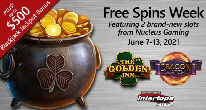 Free Spins on 2 Brand-New Slots and up to $500 Blackjack Prizes