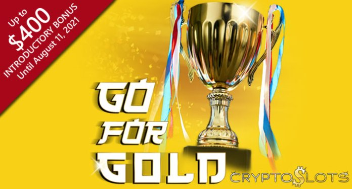 CryptoSlots Doubles Deposits on New 'Go for Gold' Slot