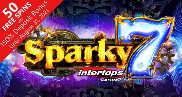 Intertops Casino's New Sparky 7 Three-Reel Features New Transferring Symbols