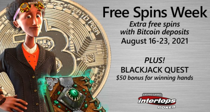 Free Spins Week on, Book of Darkness and Gears of Time at Intertops