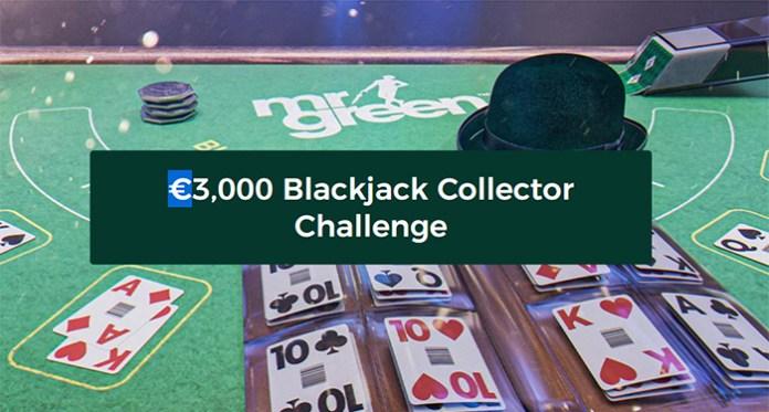 Play Mr Green Casinos $3,000 Blackjack Collector Challenge