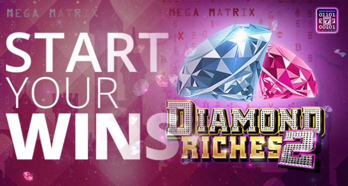 Play CryptoSlots' Latest slot Diamond Riches 2 with 80% Extra