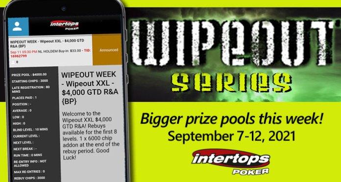 Intertops Poker, Fall Poker Season – Bigger Prize Money for 'Wipeout' Poker Tournaments