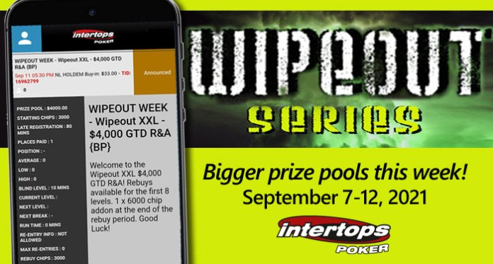 Intertops Poker, Fall Poker Season - Bigger Prize Money for 'Wipeout' Poker Tournaments