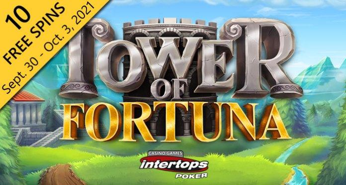 Intertops Poker Memberikan 10 Putaran Gratis di Menara Baru Slot Fortuna