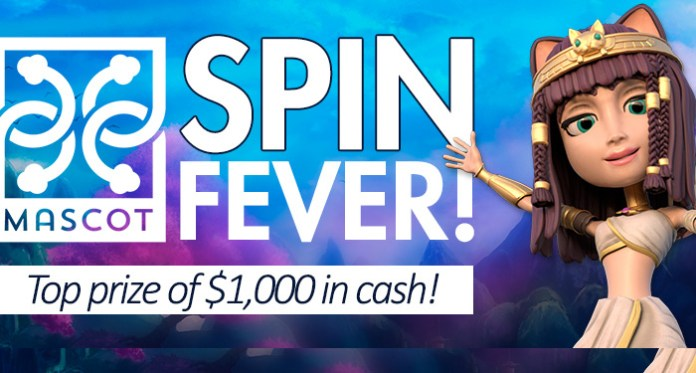 Win a Top Prize of $1,000 Playing Vegas Crest Mascot Spin Fever!