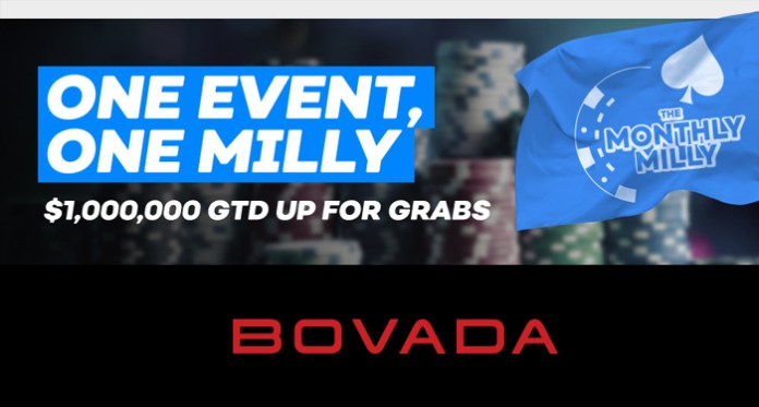 Bovada's Monthly Milly Tournament , $1M to Be Won in a Single Event