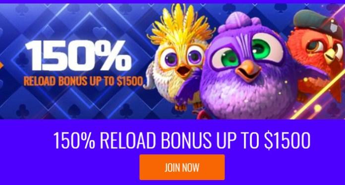 Keep Winning Streak With a 150% Reload Bonus at Big Spin