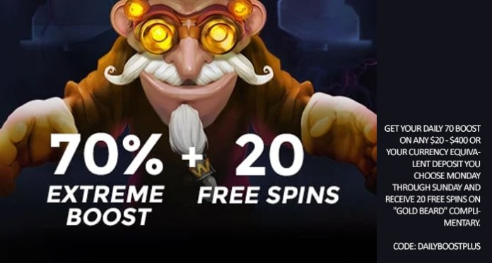 Play Gold Beard at Casino Extreme w/ an Extra 70% Boost