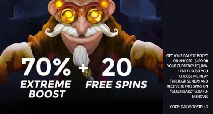 Mainkan Gold Beard di Casino Extreme dengan Peningkatan Ekstra 70%