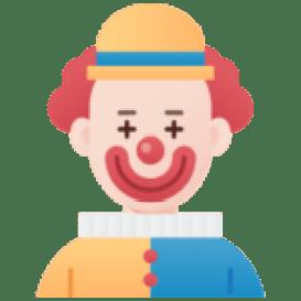 Bild på en clown som illustrerar spel och rolighetsgrad hos casino utan konto