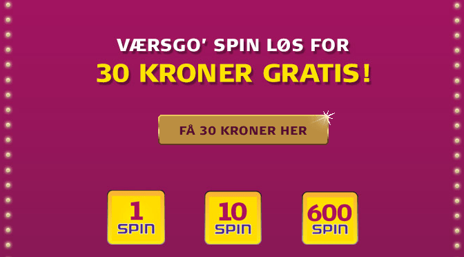 Danske Spil Casino gratis spins uden krav om indskud