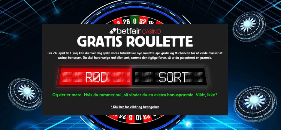 Har du prøvet gratis roulette på Betfair Casino – med rigtige præmier?