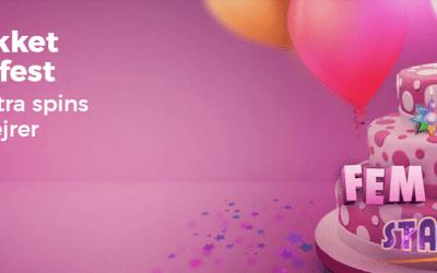 Få Fødselsdags free spins på Starburst spilleautomaten