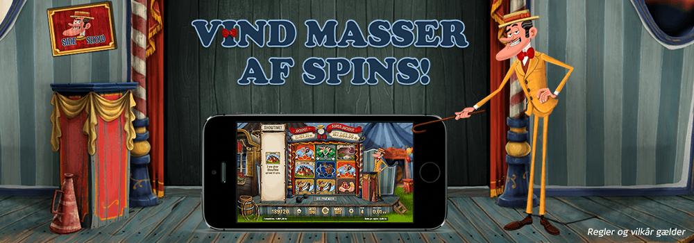Spil dig til free spins eller vind masser af free spins