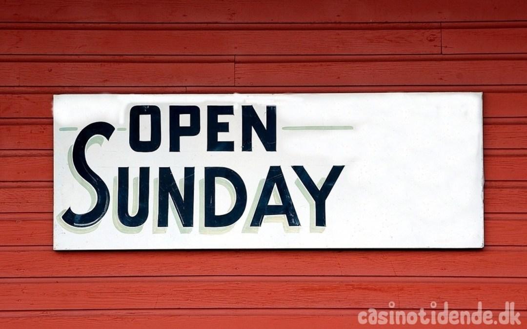 Alle online casinoer har åbent om søndagen, døgnet rundt og året rundt