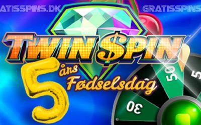 Over 50.000 Twin Spin Gratis Spins til 5 års fødselsdag