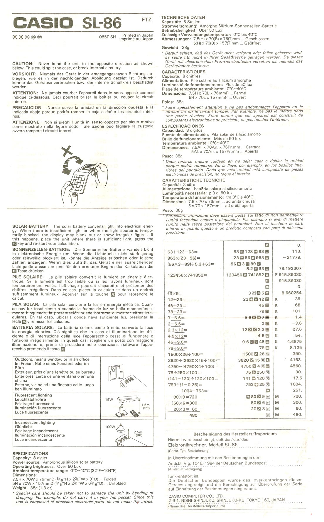 Casio Calculator Manual