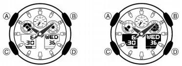 Как настроить время в Casio 5081 / G-Shock GA-100