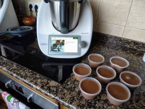 Natillas de chocolate con Thermomix