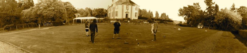 Croquet still going several hours later