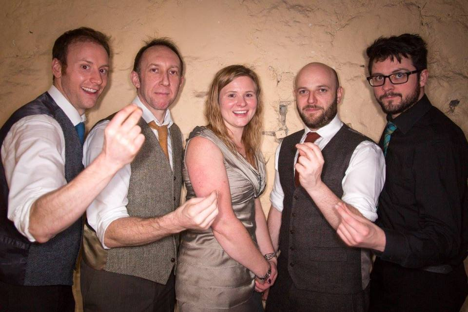 The band with our new 'Jazz' singer (oor pal Jasmin Tulloch!)