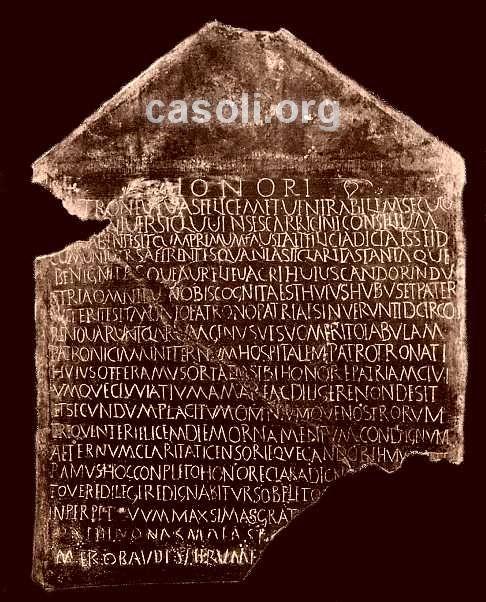 Casoli  la zona archeologica di Cluviae