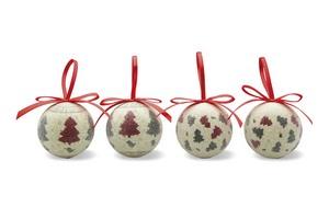 Set di 4 palle di Natale