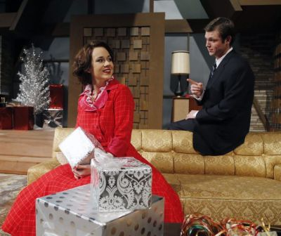 """A long-buried secret strains the relationship of Nora Helmer (Kat Wilson) and her husband, Torvald (Garrett McPherson), in Baylor Theatre's """"Nora."""""""