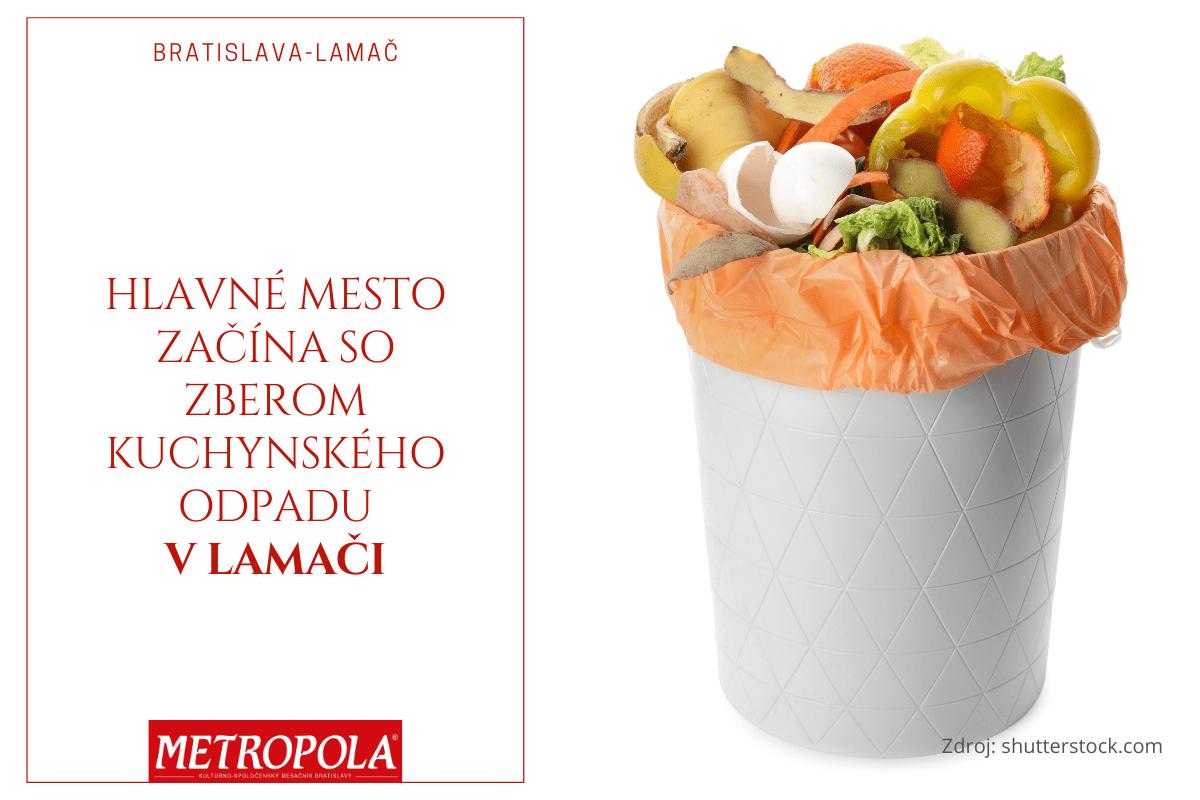 Hlavné mesto začína so zberom kuchynského odpadu v Lamači