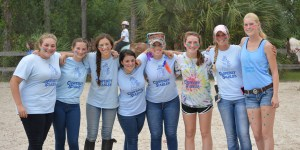 Volunteering at camp