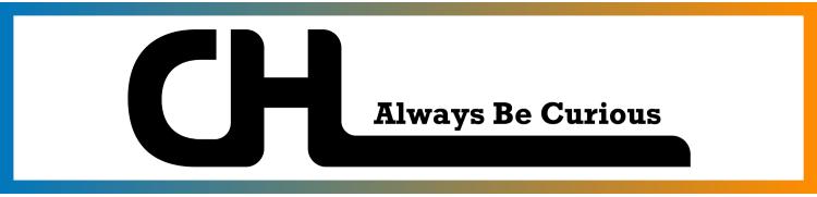 "Cassandra HL's full width logo: ""Always Be Curious"""